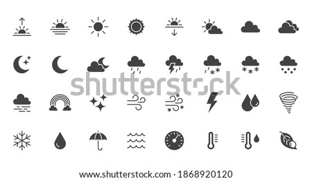 Hail And Rain Cloud And Sun Icon Weather Glyph Vector Illustration Stok fotoğraf © Nadiinko