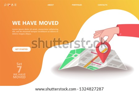 Delivery point concept landing page Stock photo © RAStudio