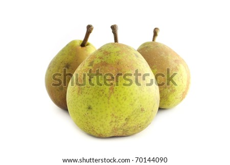 Green pear fruit isolated on white background. Dietary food, vegan product. Vector illustration Stock photo © robuart