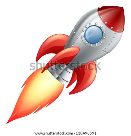 Isolated space rocket cartoon Stock photo © bluering