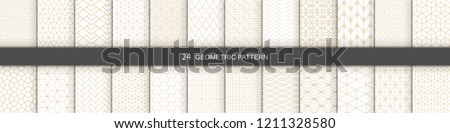 Set of vector seamless simple geometric patterns. Repeating ornamental backgrounds - oriental grid t Stock photo © ExpressVectors