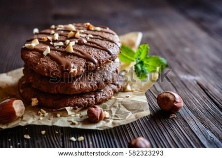 Shortcakes with chocolate glaze Stock photo © zhekos