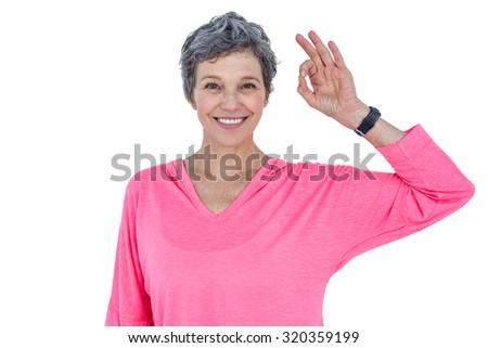 женщину вызывать знак камеры белый Сток-фото © wavebreak_media