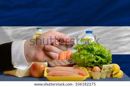 Buying Groceries With Credit Card In Nicaragua Foto stock © vepar5