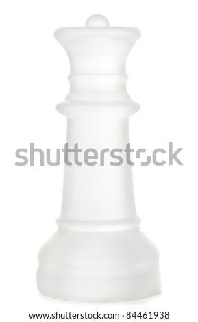 Vidro xadrez rainha em pé conselho Foto stock © posterize
