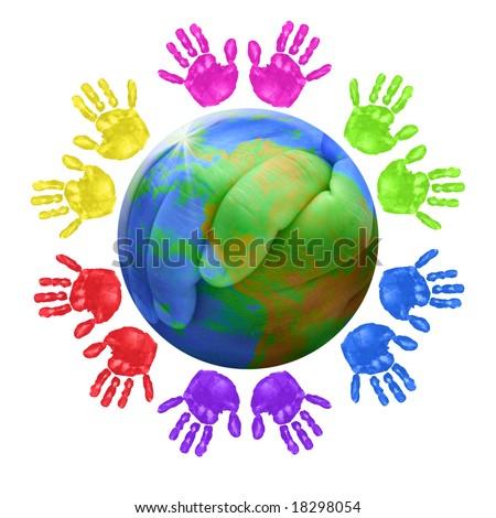 świecie ręce drzewo drewna świat ziemi Zdjęcia stock © inxti