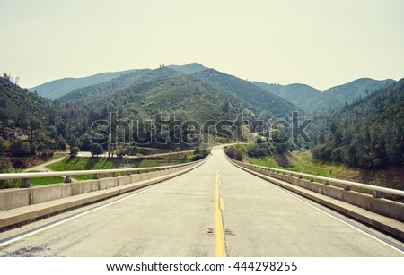 Photo stock: Autoroute · Californie · route · dangereux