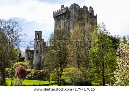 irlandais · château · célèbre · pierre · arbre · bâtiment - photo stock © Perszing1982