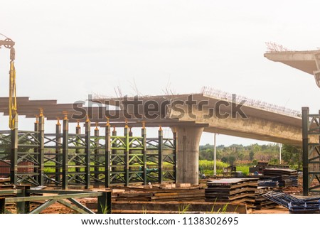 Railroad under construction Stock photo © raywoo