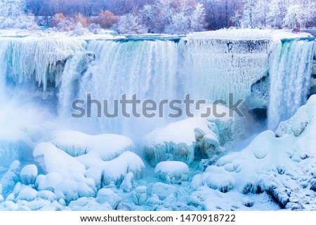 falls frozen in winter stock photo © g215