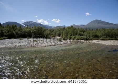 Propre rivière forêt parc Norvège eau Photo stock © slunicko