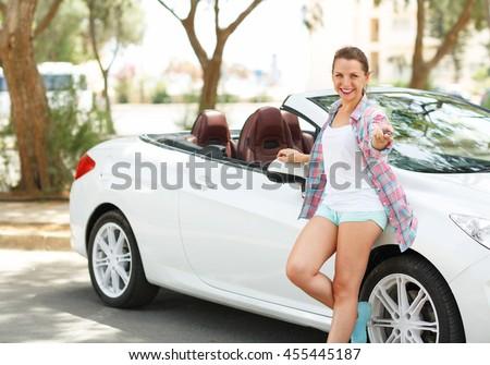 ビジネス女性 · スポーツカー · 小さな · 成功した · 豪華な · 少女 - ストックフォト © vlad_star