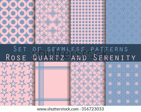 Rose quartz and serenity star seamless pattern. Vector illustration Stock photo © gladiolus