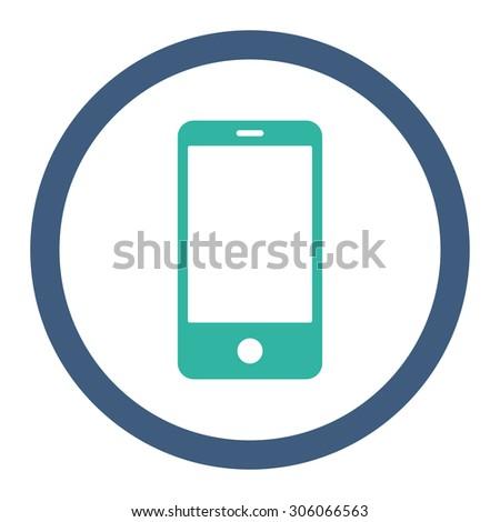 Okostelefon kobalt ciánkék színek ikon szimbólum Stock fotó © ahasoft