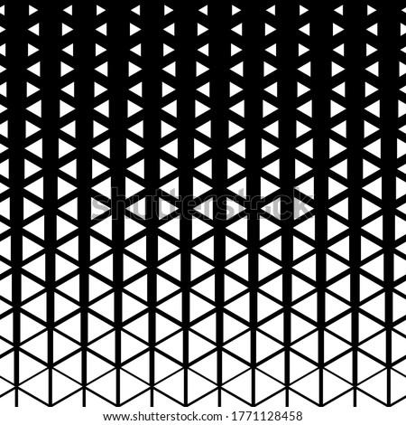 ベクトル シームレス 黒白 三角形 グリッド 幾何学模様 ストックフォト © CreatorsClub