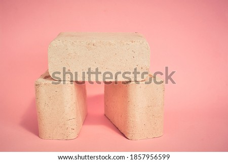 Briquettes and granulated firewood Stock photo © luissantos84