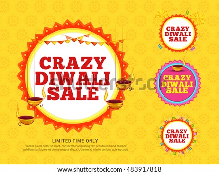beautiful diwali sale offer and discount with diya and paisley d Stock photo © SArts
