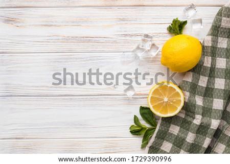 Limonata taze limon nane beyaz bağbozumu Stok fotoğraf © Yatsenko