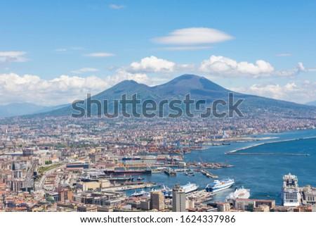 view · Napoli · castello · Italia · costruzione · mare - foto d'archivio © neonshot