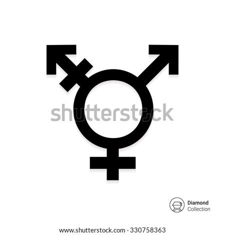 Сток-фото: транссексуалов · икона · символ · мужчины
