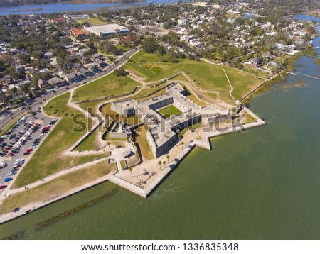 Castillo de San Marcos, the oldest fort in the continental Unite Stock photo © saddako2