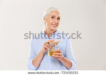 Retrato sorridente velha mel Foto stock © deandrobot