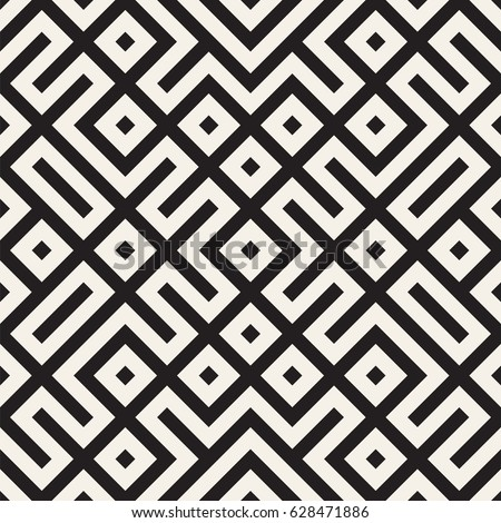 Geometric Ethnic Background with Symmetric Lines Lattice. Vector Abstract Seamless Pattern. Stock photo © Samolevsky