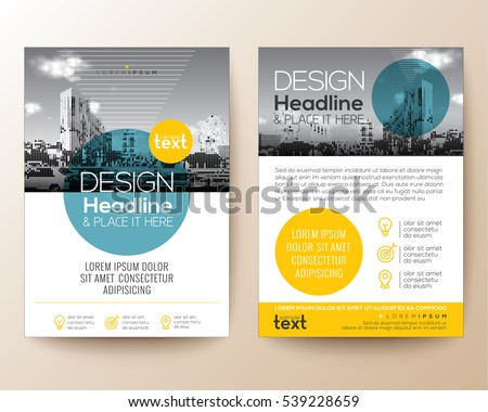 elegant yellow black business presentation brochure design tempa stock photo © sarts