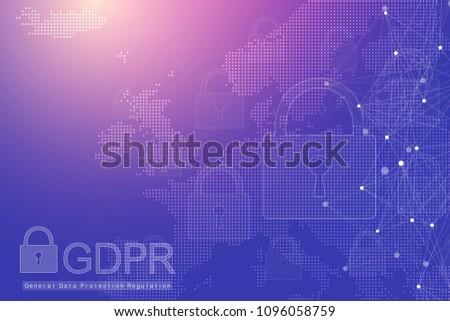 Vektor · Vorhängeschloss · blau · Matrix · Internet · Regulierung - stock foto © pikepicture