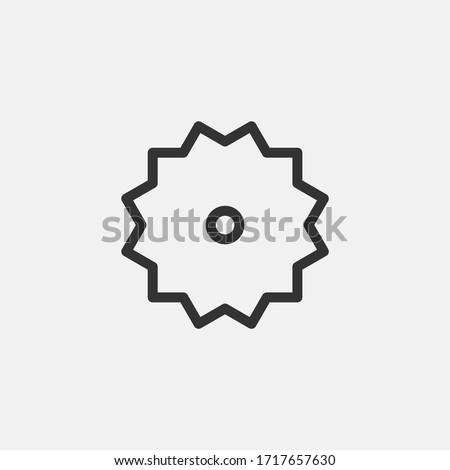circular saw blade strokes and shapes vector on white background stock photo © m_pavlov