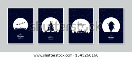 Christmas card with calligraphic lettering in the snowy field stock photo © SwillSkill