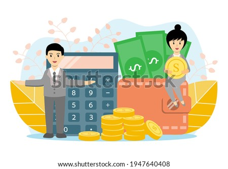business accounting man hands working stacking coin the calculat stock photo © snowing