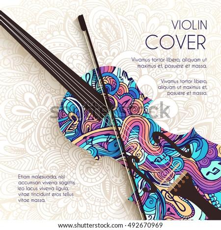 Kunst abstract viool ornament muziek Stockfoto © Linetale