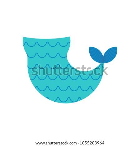 Zeemeermin staart geïsoleerd sjabloon magisch vector Stockfoto © MaryValery