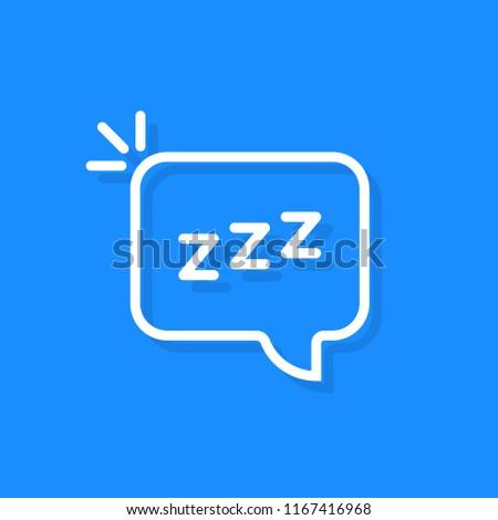 Stock photo: speech bubble with zzz logo. simple flat style trend modern logo