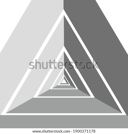 black and orange 3d geometrical embossed letter a vector illustr stock photo © cidepix