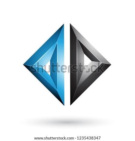 青 黒 フレーム のような ダイヤモンド ストックフォト © cidepix