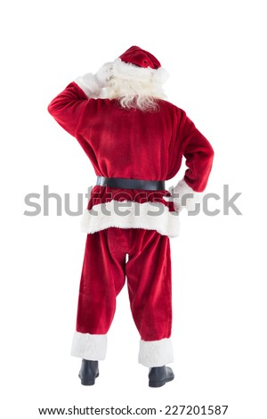 Photo stock: Pense · barbe · Noël · personnage · enfant