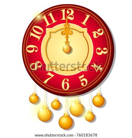 Photo stock: Vintage · mur · horloge · décoré · or