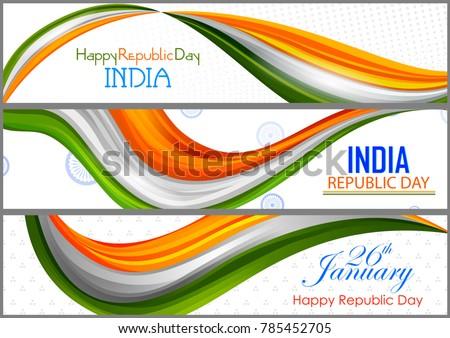 Abstract driekleur banner indian vlag gelukkig Stockfoto © vectomart