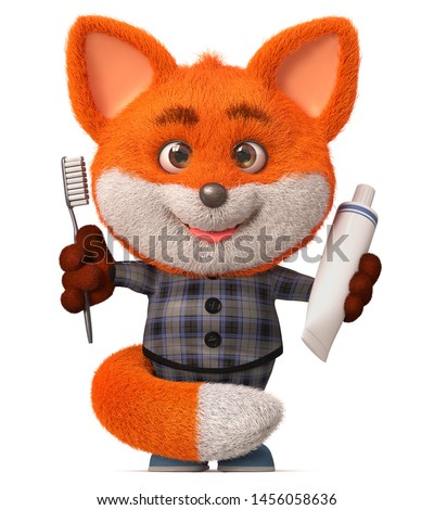 Animated fox in clothes isolated on white background. The character of Russian folk tales. Vector ca Stock photo © Lady-Luck