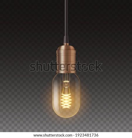 żarówka wektora moc obiektu antyczne kabel Zdjęcia stock © pikepicture