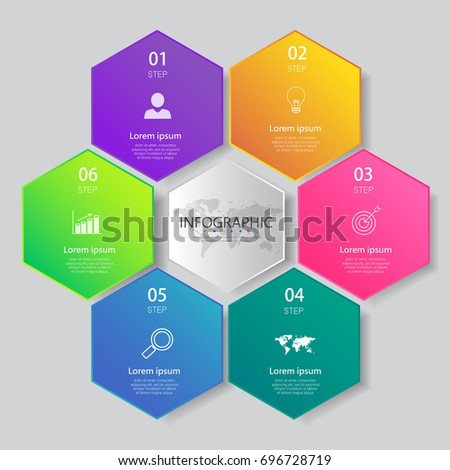 Sechs Schritt kreative Tabelle Tabelle Prozess Stock foto © kyryloff