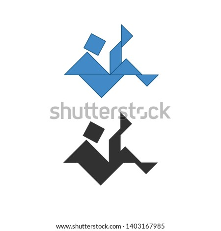 vallen · man · traditioneel · chinese · puzzel · zeven - stockfoto © kyryloff