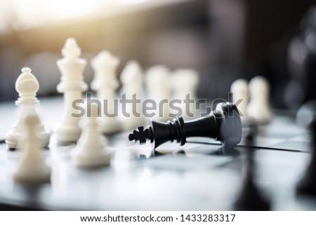 Xadrez sucesso salvar estratégia trabalho em equipe Foto stock © Freedomz