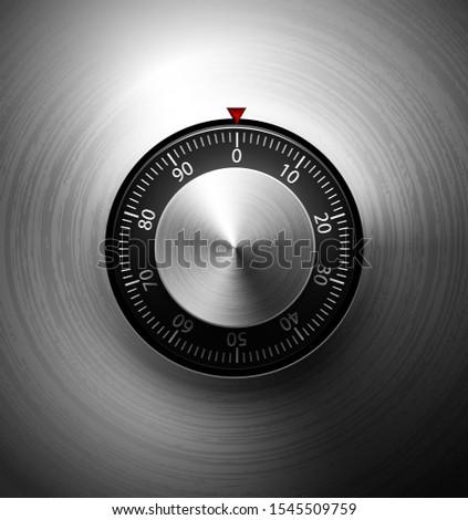 Gerçekçi kombinasyon Metal güvenli kilitlemek cilalı Stok fotoğraf © Iaroslava