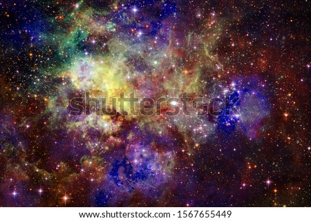 Billions of galaxies in the universe. Abstract background. Elements of this image furnished by NASA Stock photo © NASA_images