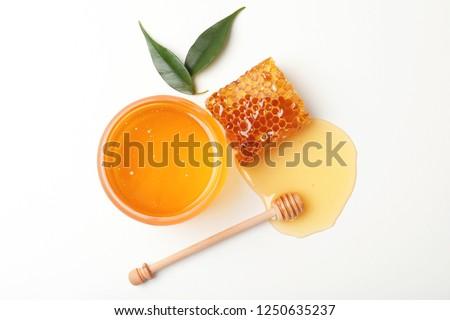 Miele primo piano riposo sfondo colazione Foto d'archivio © limpido
