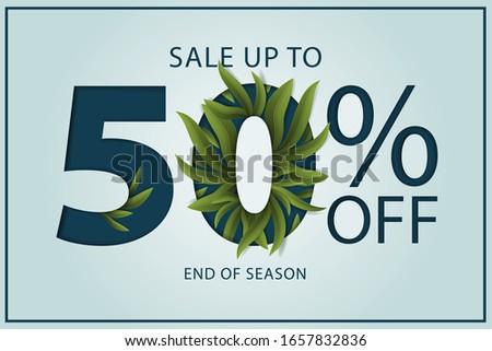 50 por cento folhas decoração venda Foto stock © ikopylov