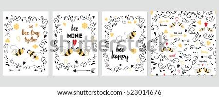 Drôle saint valentin typographie design toujours Photo stock © JeksonGraphics